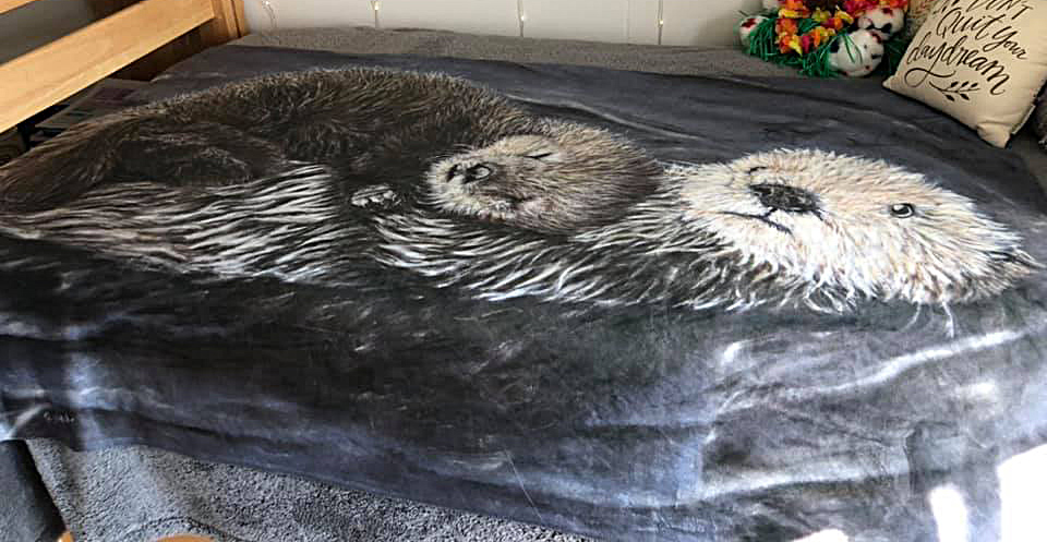 Plush otter blanket
