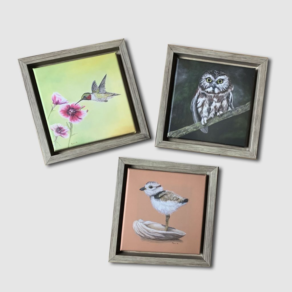 framed canvas trio